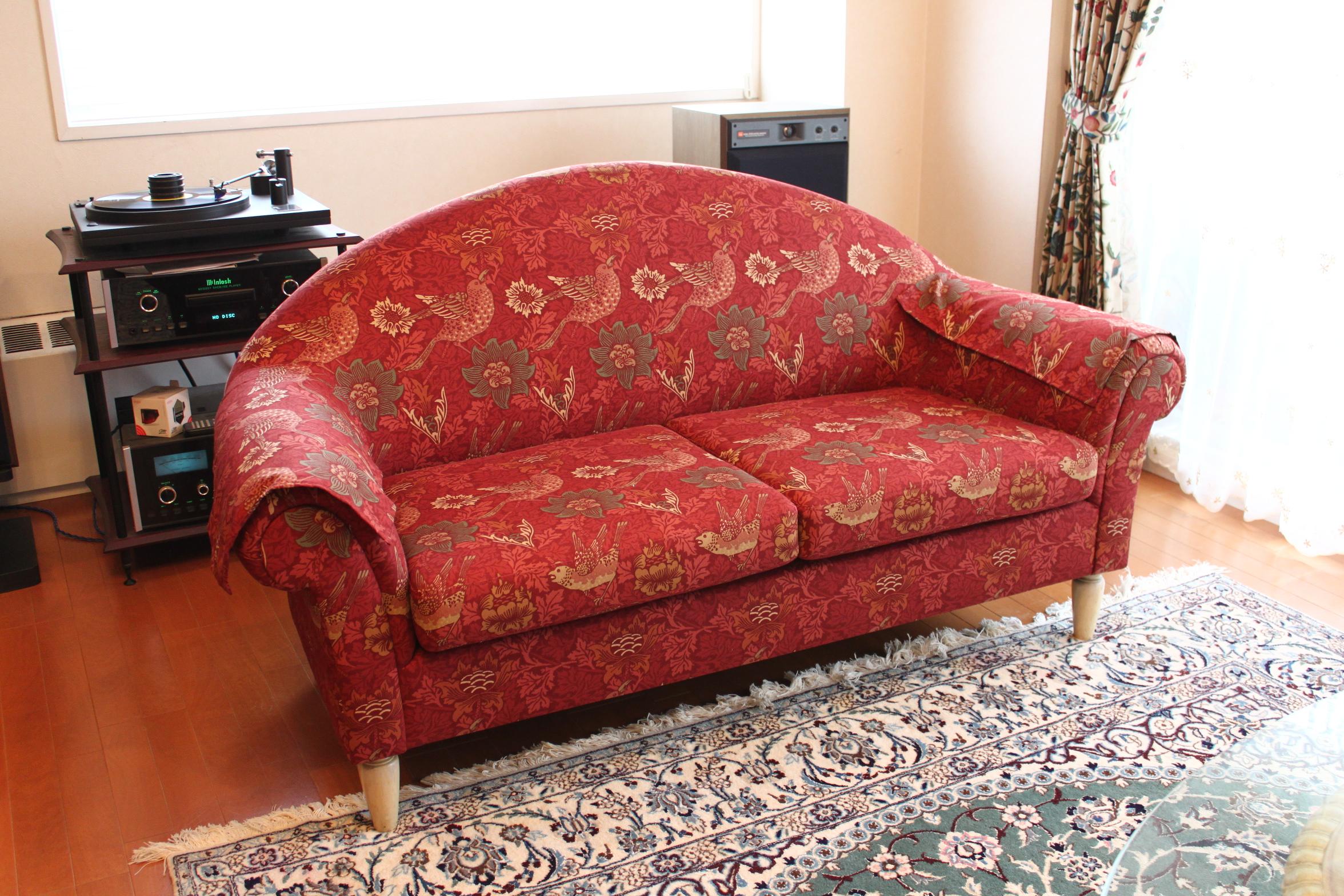ウイリアムモリスのソファ
