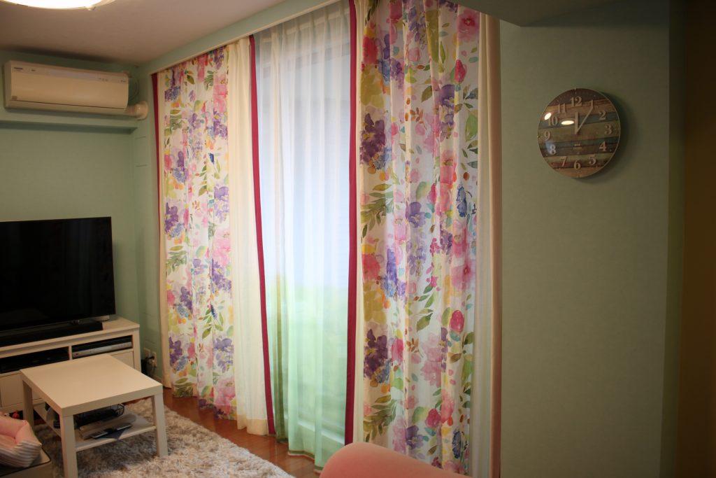 ブルーベルグレイのカーテン